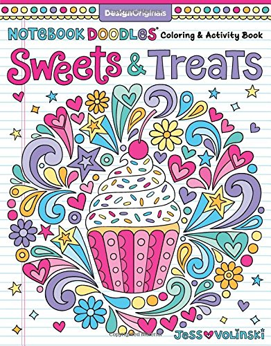 Notebook Doodles Sweets Treats Coloring product image