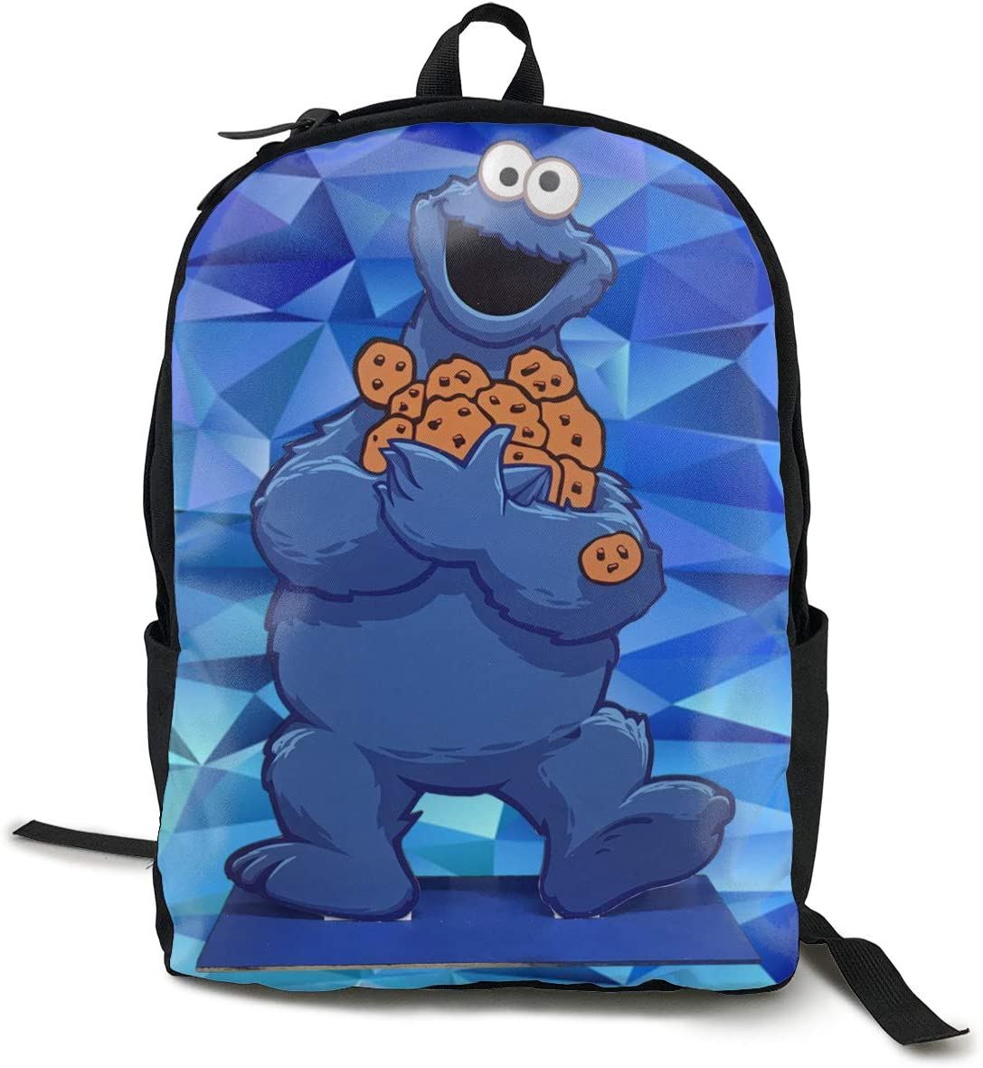 Tondgs Cookie-Monster Children Casual Style Backpack Daypack Bookbag Laptop School Bag Black One Size