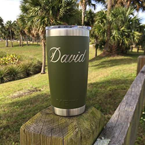 YETI Rambler Custom Engraved w/Name Now available in Limited Edition Pink - NOT A STICKER by DoGood Designs