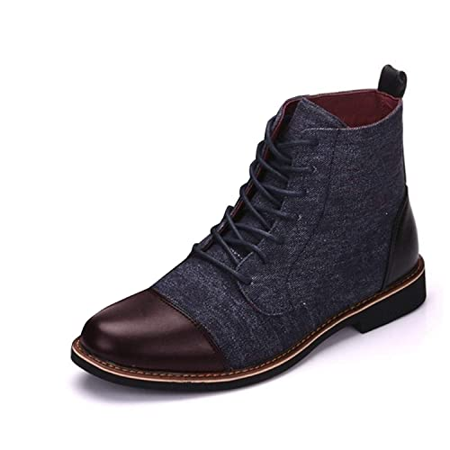 Minetom Zapatos Vestir Hombre Oxford Cuero Derby Fiesta Negocios Formales Comodos Casuales Mocasines De Encaje hasta Antideslizante Botas Cortas: Amazon.es: ...