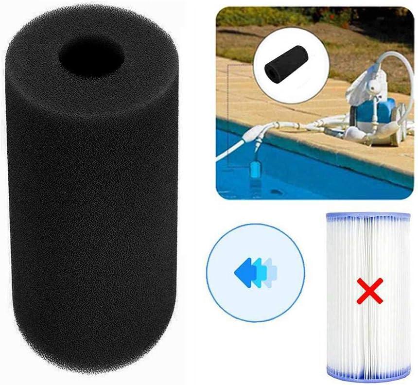 PIONIN Schwimmbadfilter Schaum Wiederverwendbare Reinigungsger/äte Schaum Waschbar Schwammpatrone Schaum f/ür Intex S1