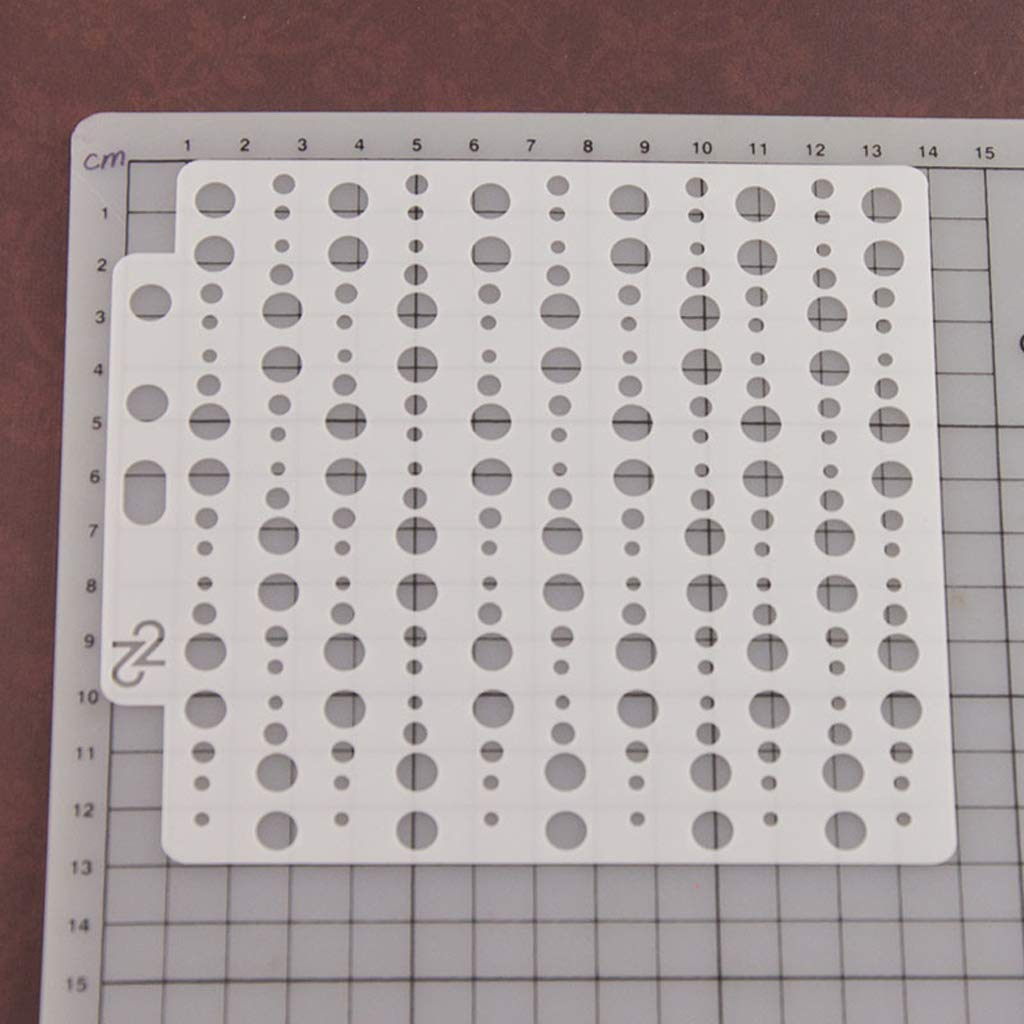 Kalttoy Circle Stencils Template Peinture Scrapbooking Gaufrage Stamping Album Artisanat