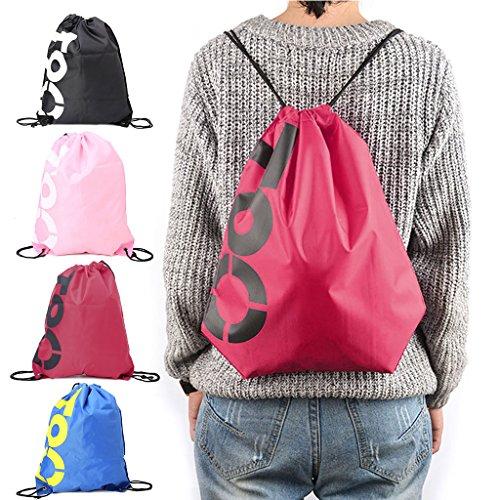 à Voyage à Sac Plage Shopping Chaussures Dos Junlinto Sacs Cordon Bleu Sport Rouge imperméable Gym Pack Xd5xq8w