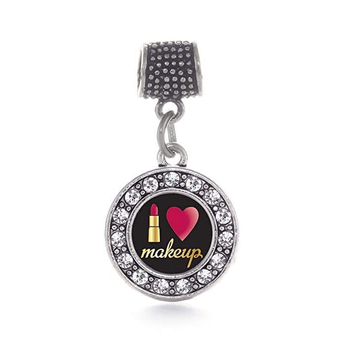 dd25a25b1 Amazon.com: Inspired Silver I Love Makeup Circle Memory Charm Fits Pandora  Bracelets & Compatible with Most Major Brands such as Chamilia, Murano,  Troll, ...