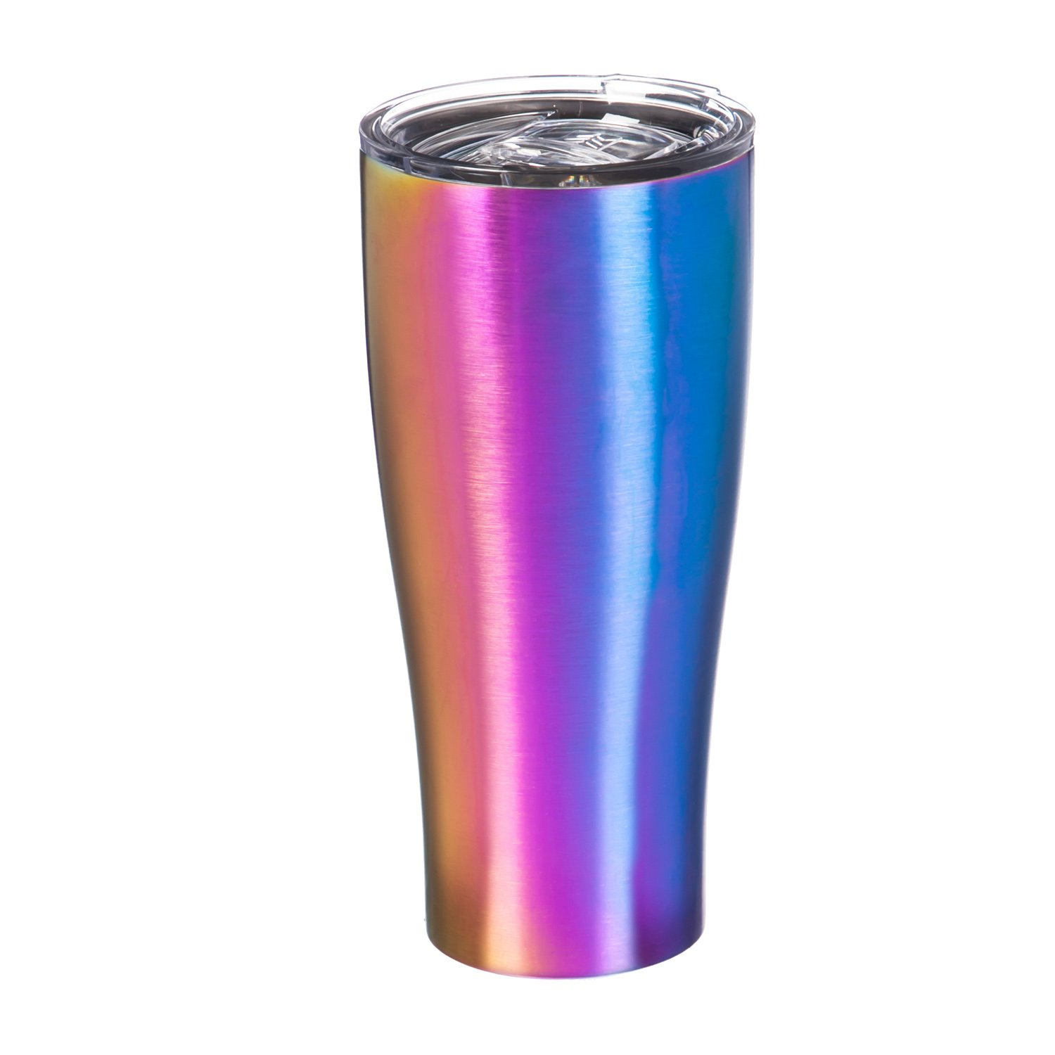 Cypress Home PVD Rainbow Stainless Steel Hot Beverage Travel Cup, 17 ounces