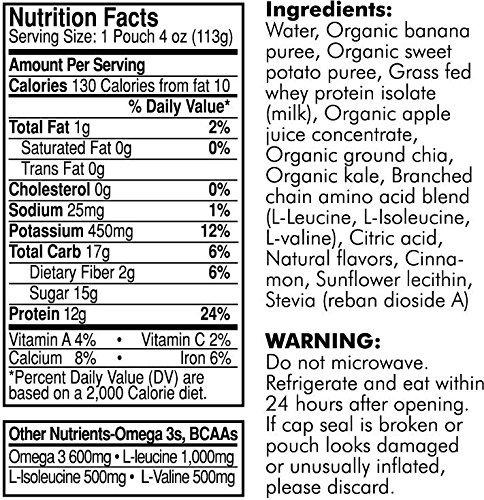 LifeAid Beverage Company FitAid Fuel Sweet Potato/Tart Apple 6 - 4 oz. Fuel Pouch