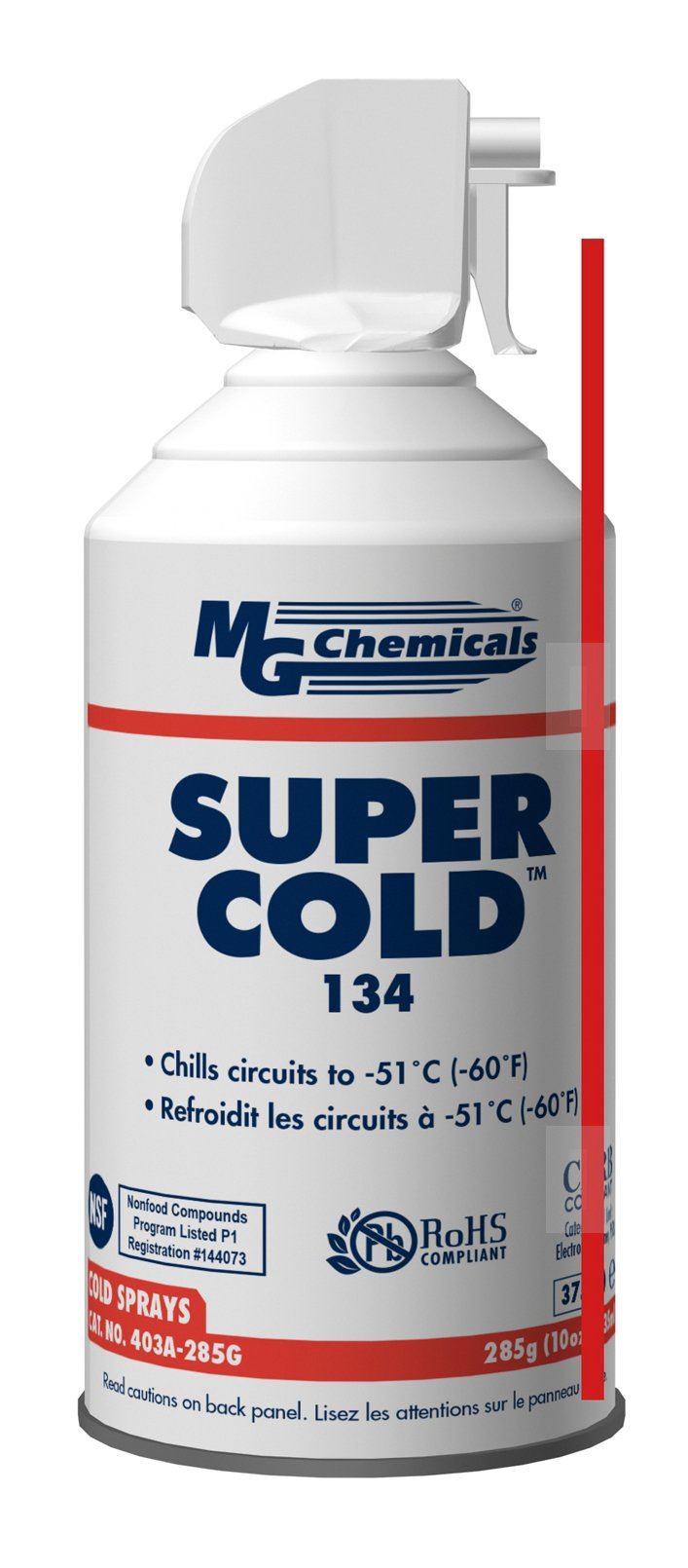 MG Chemicals 403A 134A Super Cold Spray, 285g (10 oz) Aerosol Can by MG Chemicals
