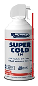 MG Chemicals 403A 134A Super Cold Spray, 285g (10 oz) Aerosol Can