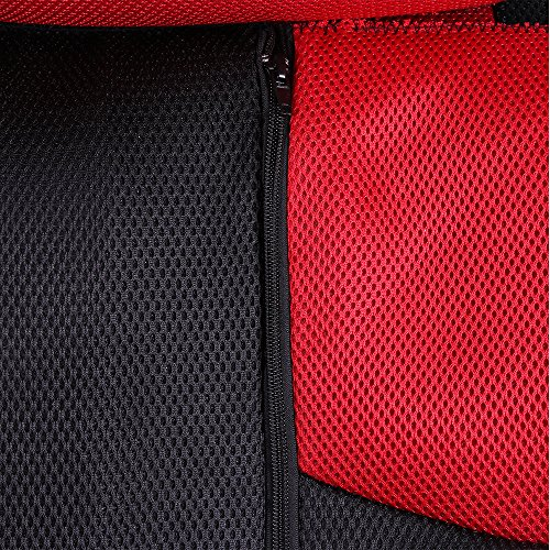 ECCPP Universal Car Seat Cover w/Headrest/Steering Wheel/Shoulder Pads - 100% Breathable Mesh Cloth Stretchy Durable for Most Cars Trucks Vans(Red/Black) by ECCPP (Image #6)