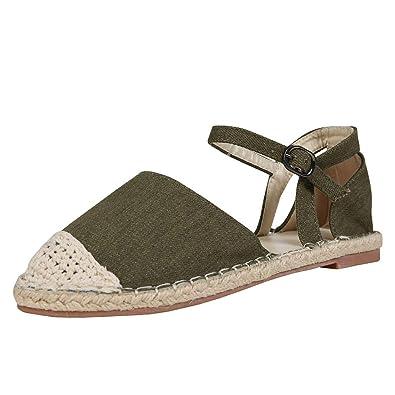 bff9ce911c8a Syktkmx Womens Espadrille Sandals Flat Platform Lace Up Suede Strappy Cap Toe  Ankle Strap Summer Dress