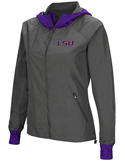 bfd2273378b Image Unavailable. Image not available for. Color  Colosseum LSU Tigers  NCAA Women s Backside Full Zip Hooded Charcoal Jacket