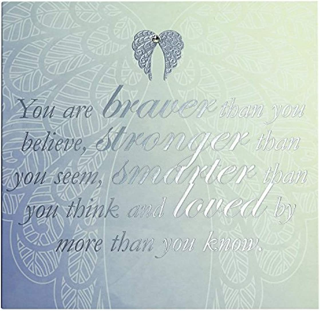 Stronger Smarter and Loved Greeting Card You are Braver You are an Angel Cards