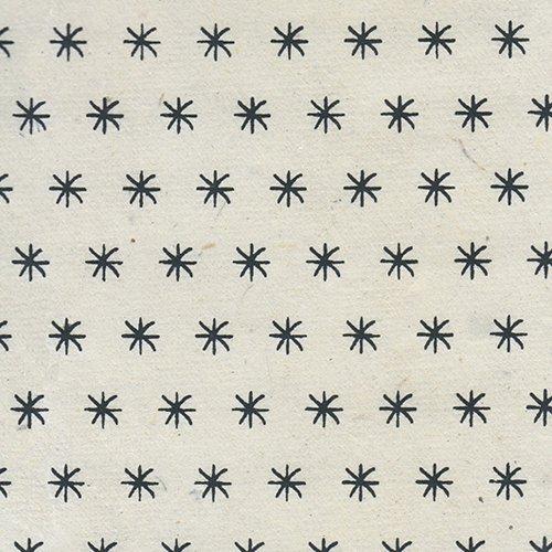 Lama Li Black & White Nepalese Paper Collection - Lama Li Nepalese Paper- Black Dandelion Feathers on Natural 20x30 Sheet -