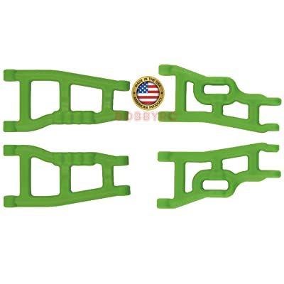 RPM 2 Pack 80244 Front & 80594 Rear Green A-Arms 1/10 Traxxas Slash 2wd VXL XL-5 Raptor: Toys & Games