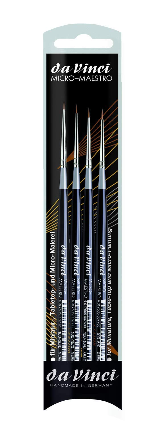 da Vinci Watercolor 4210 Watercolor Brush Black 4 Each by da Vinci Watercolor