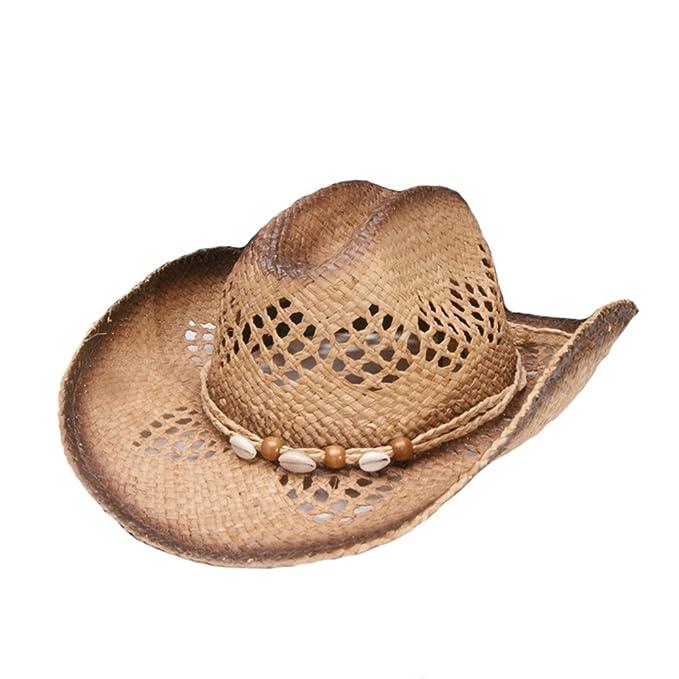 Sombreros De Vaquero De Paja Mujeres Hombres Rafi Verano Sombreros ...