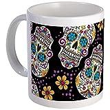 CafePress - Day Of The Dead Sugar Skull, BLACK - Unique Coffee Mug, Coffee Cup
