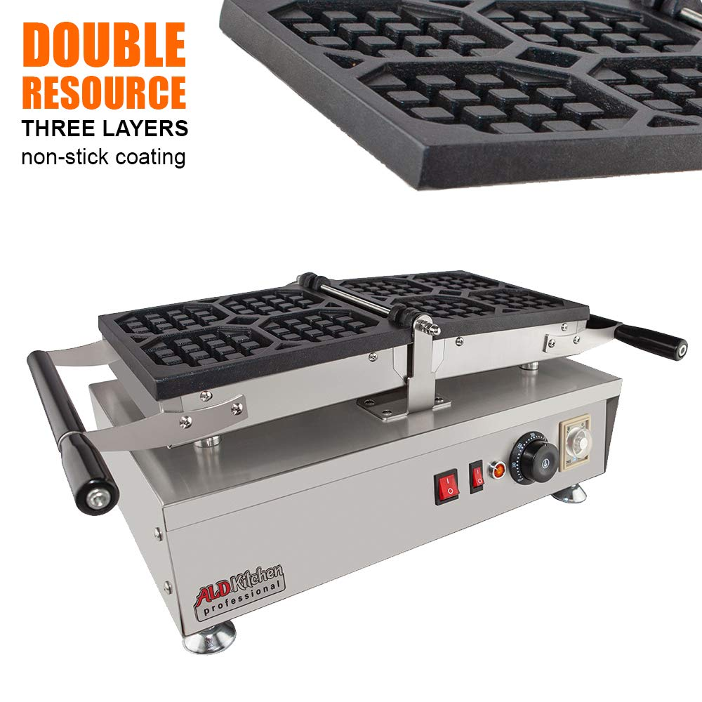 ALDKitchen Swing type BELIGIUM Waffle maker Nonstick Electric Egg Biscuit Roll Maker Machine Bake Machine (4 Waffles) by ALDKitchen (Image #3)