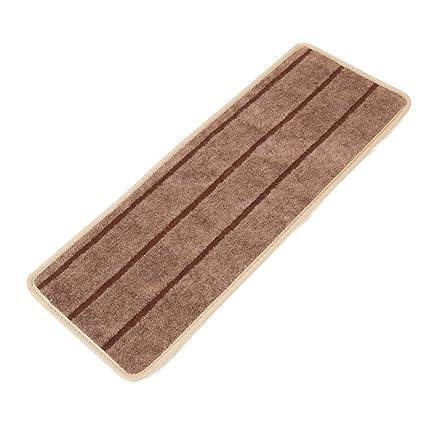 SLB Works Polypropylene Fiber Household Non-Slip Floor Staircase Stair Mat Carpet Brown