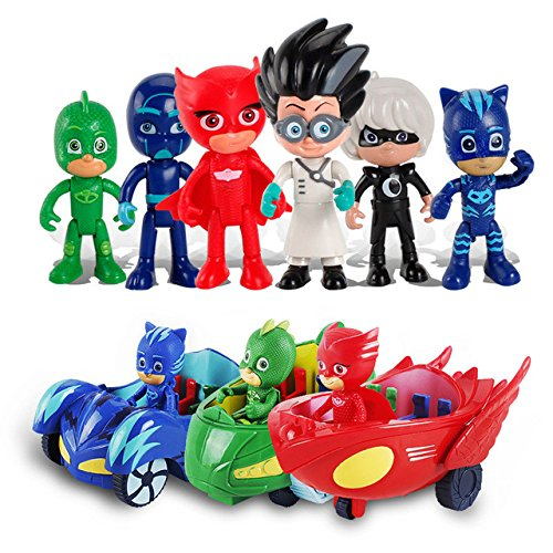 Toy, Play, Fun, pj Masks Figure 6pcs/Set 8-9cm Pj Masks Characters Catboy Owlette Gekko Cloak Action Figure Toys Boy Birthday Gift Plastic Dolls, Children, Kids, Game from Game Toys #11