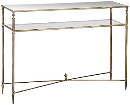 Uttermost 24278 Henzler Mirrored Glass Console Table