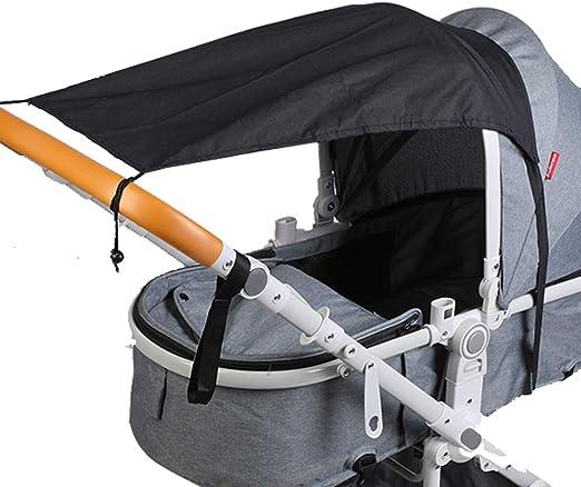 Schwarz+Dunkelgrau Universal Sonnensegel f/ür Kinderwagen//Babywanne Wasserdicht UV Schutz Beschichtung 50 Sonnenschutz f/ür Babys Sonnensegel mit Tasche
