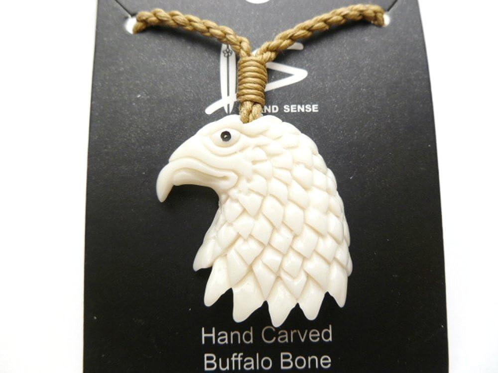 Amazon Com Eagle Bird Buffalo Bone Carved Pendant Neckalce Jewelry