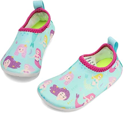 Amazon.com | RANLY & SMILY Toddler Water Shoes Kids Barefoot Beach/Pool Swim  Aqua Socks for Toddler/Boys/Girls | Athletic & Outdoor