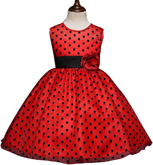 9c988d25305 LZDresses Girls Dress Custom Floral Printing Communion Wedding Flowers  Girls Dresses 2-14 Red