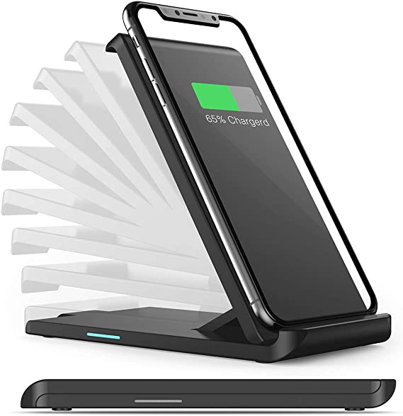 Galaxy Note 10//Note 10 Plus// S10E iSeekerKit 10W Max Qi-Certified Foldable Wireless Charging Stand Compatible for iPhone 11//11 Pro Max//Xs MAX//XR//XS//X//8 No AC Adapter Phone Stand Wireless Charger