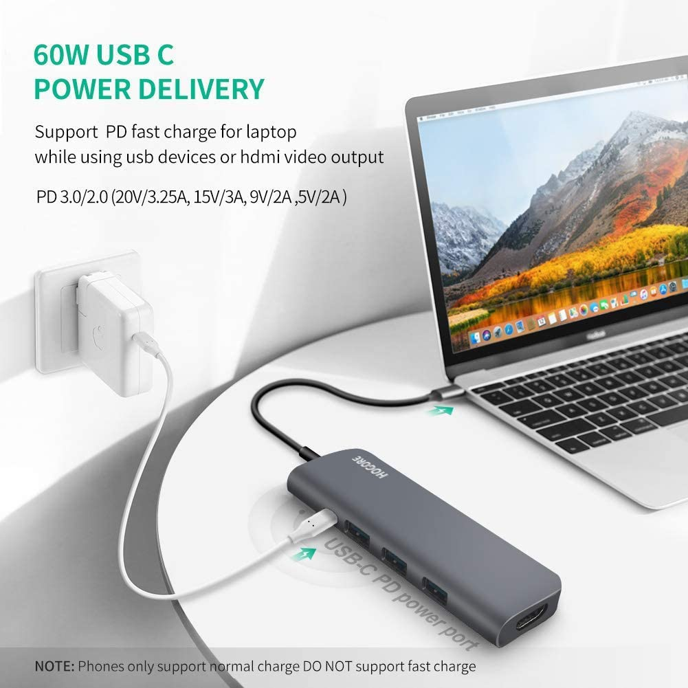 Broonel 7-in-1 Aluminium Alloy USB C Adapter with 3 5Gbps USB Ports//Micro SD Memory Slot Compatible with The Lenovo Yoga Creator 7/14