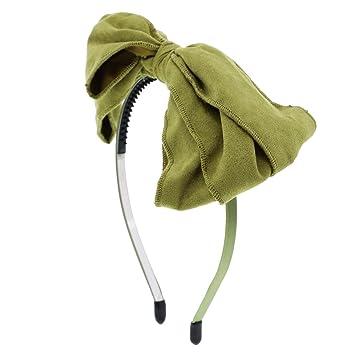 Amazon.com   Holiday Hairband for Girls Floppy Side Bow Headband (Olive)    Beauty 257e7a44b32