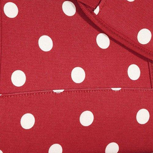 Reisenthel CB1508 Allrounder M - Bolso de mano, color marrón puntos rojos