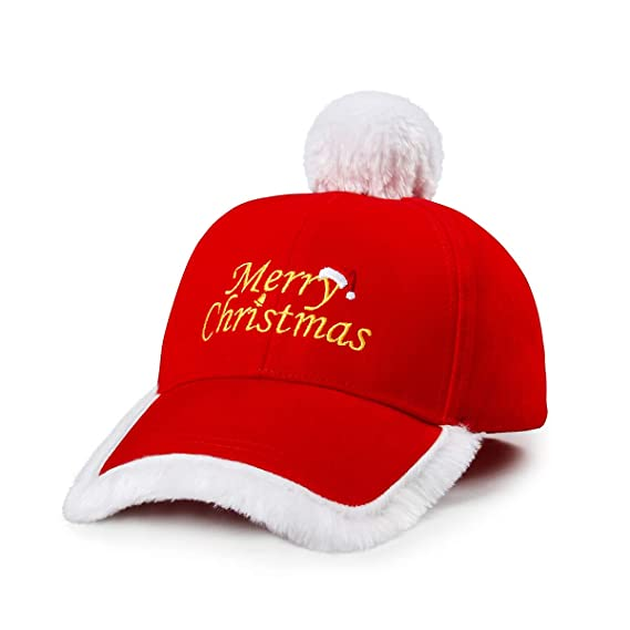 Amazon.com  Christmas Hat Fashionable Red and White Festive Santa Claus  Baseball Cap Xmas Hat  Home   Kitchen 86b40fb79342