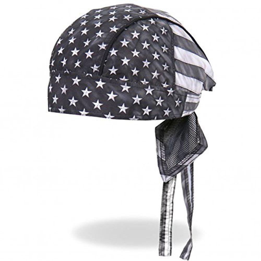 Authentic Bikers Premium Headwraps, GRAY FLAG Micro-Fiber HEADWRAP