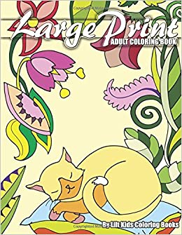 Amazon Large Print Adult Coloring Book Premium Books Volume 3 9781974587728 Lilt Kids