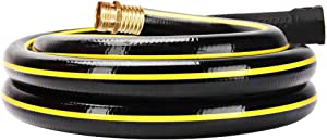 Solution4Patio 3/4 in. x 3 ft. Short Garden Hose, No Leaking, Black Lead-Hose Male/Female Solid Brass Fittings for Water Softener, Dehumidifier, Vehicle Water Filter, 12 Years Warranty #G-H165B23-US