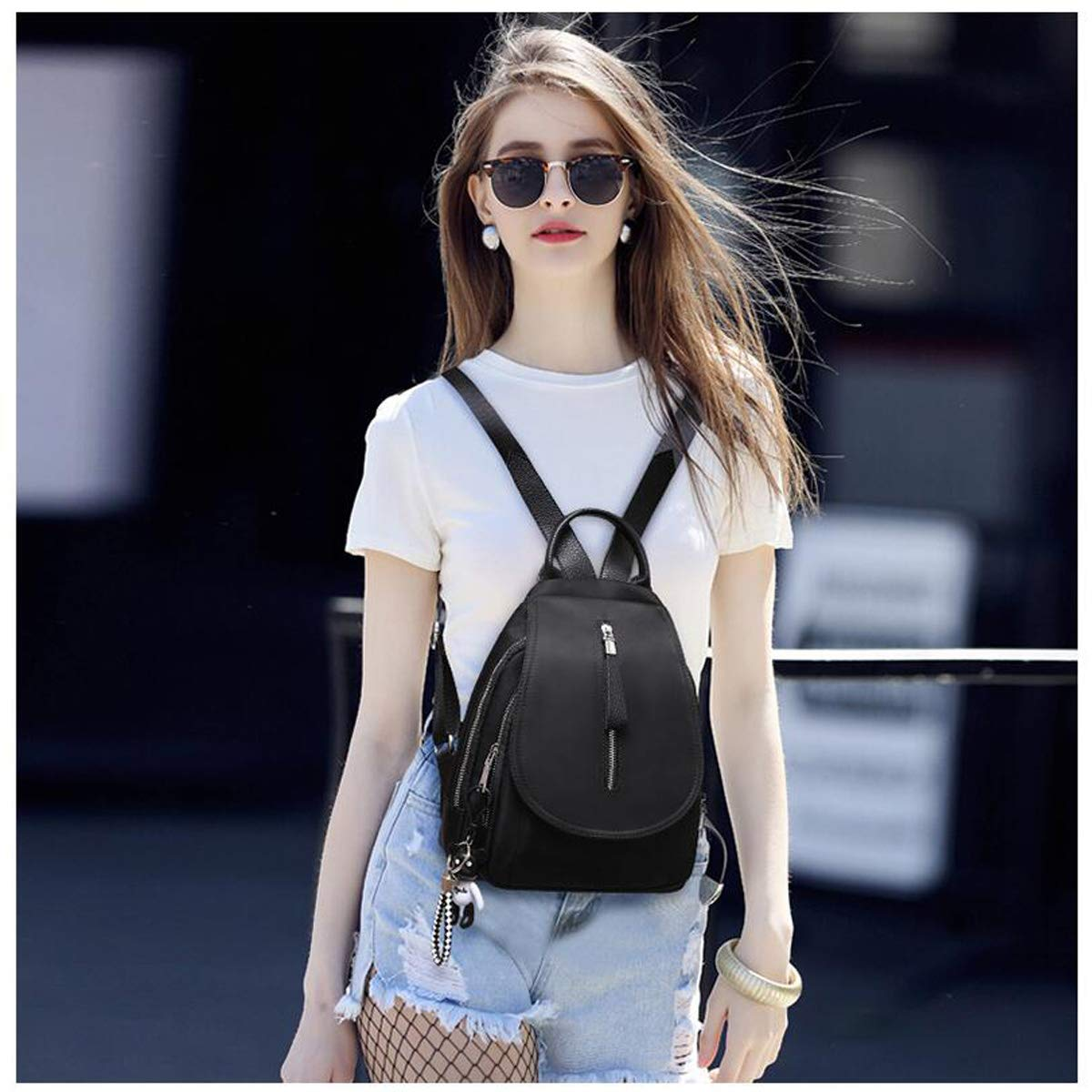 Work Six Designs Travel Fashion and Leisure Simple and Practical. Outdoor School Haoyushangmao The Girls Versatile Backpack is Perfect for Everyday Travel