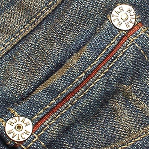 Ragazzi Classiche Lunghi Mano Strappo Da Vintage Pantaloni Usati M1212 Jeans Strappati Con Estremo Uomo A Taglio In qHnZz