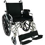 Silla de ruedas aluminio | plegable | Reposabrazos abatibles y reposapiés extraibles | Ancho de asiento 46cm | Mod. Ópera | Mobiclinic