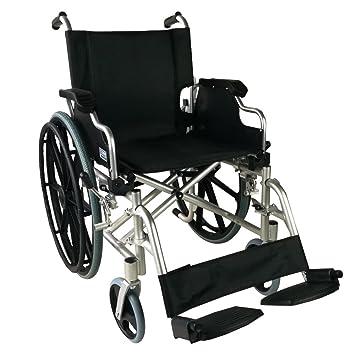 Silla de ruedas aluminio | plegable | Reposabrazos abatibles y reposapiés extraibles | Ancho de asiento 46cm | Mod. Ópera | Mobiclinic: Amazon.es: Salud y ...