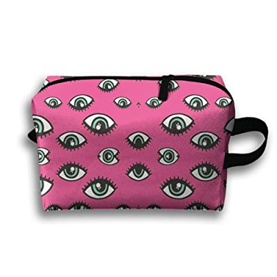 SO27Tracvel Eyes Pattern Pink Toiletry Bag Dopp Kit Tactical Bag Accessories Travel Case
