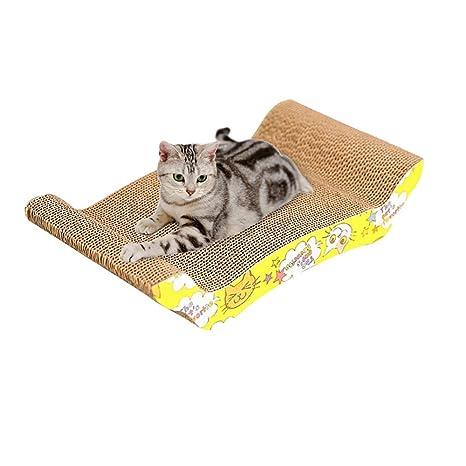 laamei Rascador de Cartón para Gatos, Alfombrilla Rascadora Antideslizante Sisal Scratcher Tabla para Raspar Juguete