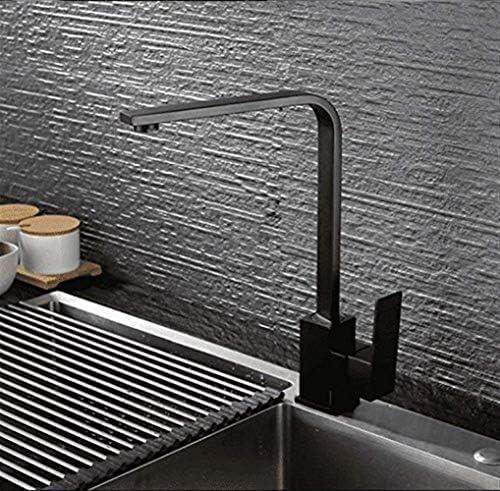 水タップ便利な洗面台シンク温冷水蛇口/ 304ステンレス鋼ブラックナノペイント+セラミックバルブコアバブラー/開口部直径3.5cm実用的なキッチンバスルーム用品キッチンバスルーム用品