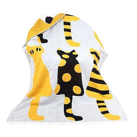 Toallas de algodón personalizadas (140 x 70 cm) toallas de diseño grandes y suaves