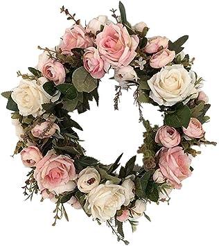 Corona de flores artificiales para puerta de boda, mesa, centro de ...