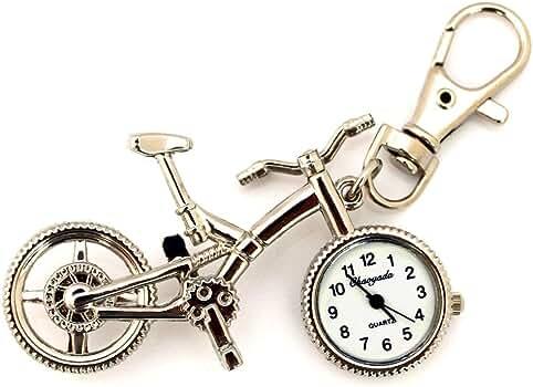 HELBOD Reloj de Bolsillo Plata Bronce Retro Bicicleta Diseño de ...