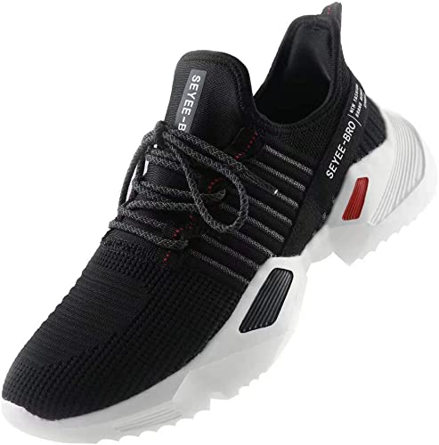 Size 10.5 Mens Sport Black Shoes Slip on Breathable Athletic Gym Sneaker outwear