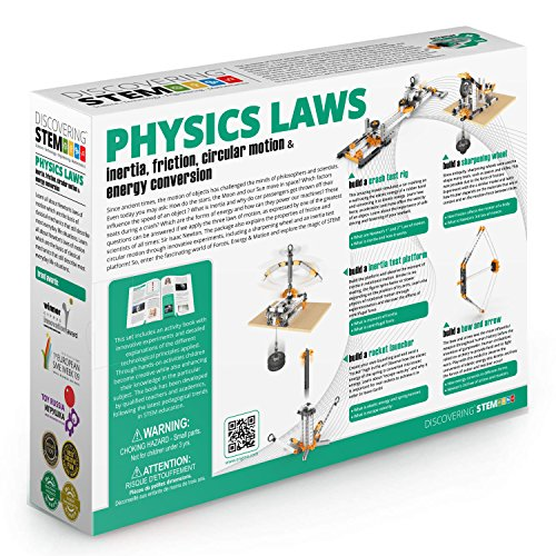61kpRj%2Bpg L - Engino ENG-STEM902 Physics Laws-Inertia, Friction, Circular Motion and Energy Conservation Building Set (118 Piece)