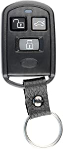 KeylessOption Keyless Entry Remote Car Key Fob Leather Strap for Kia Optima Sedona Sorento Spectra Van SUV PLNBONTEC-T009